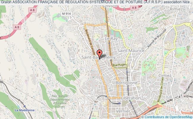 plan association Association FranÇaise De Regulation Systemique Et De Posture (a.f.r.s.p.) Nice