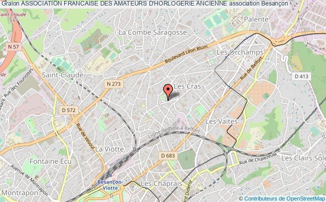 plan association Association Francaise Des Amateurs D'horlogerie Ancienne