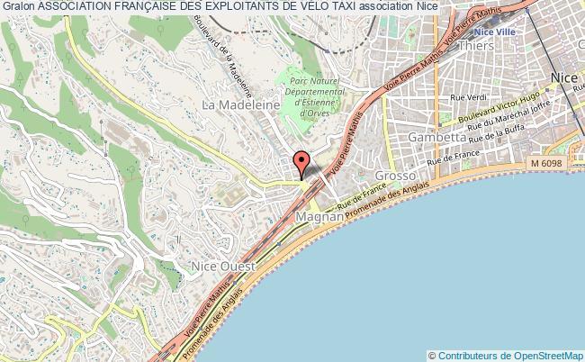 plan association Association FranÇaise Des Exploitants De VÉlo Taxi Nice