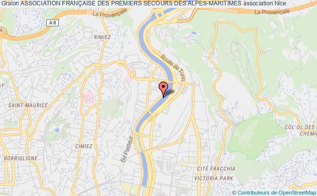 plan association Association FranÇaise Des Premiers Secours Des Alpes Maritimes (a.f.p.s. 06)