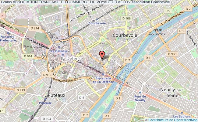 plan association Association Francaise Du Commerce Du Voyageur Afcov Courbevoie