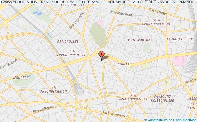 plan association Association Francaise Du Gaz Île De France  - Normandie - Afg Île De France - Normandie