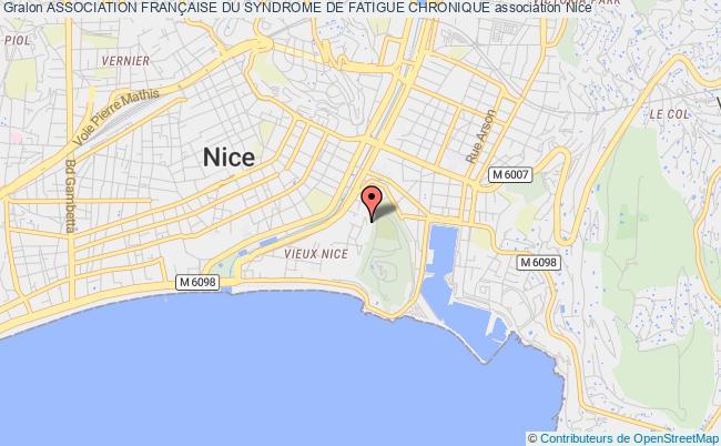 plan association Association FranÇaise Du Syndrome De Fatigue Chronique Nice