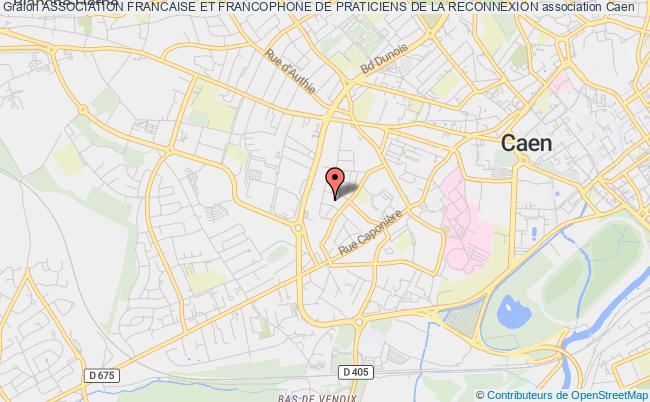 plan association Association Francaise Et Francophone De Praticiens De La Reconnexion Caen