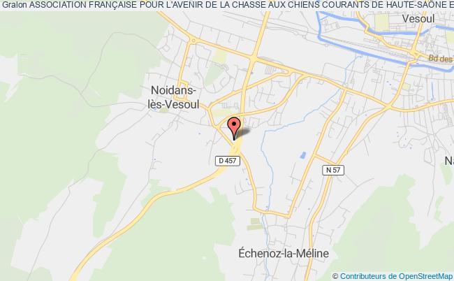 plan association Association FranÇaise Pour L'avenir De La Chasse Aux Chiens Courants De Haute-saÔne Et Du Territoire De Belfort (afaccc 70/90) Noidans-lès-Vesoul