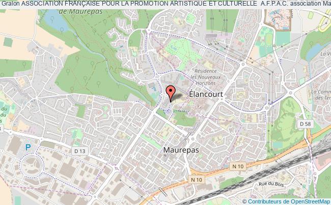 plan association Association FranÇaise Pour La Promotion Artistique Et Culturelle  A.f.p.a.c. Maurepas