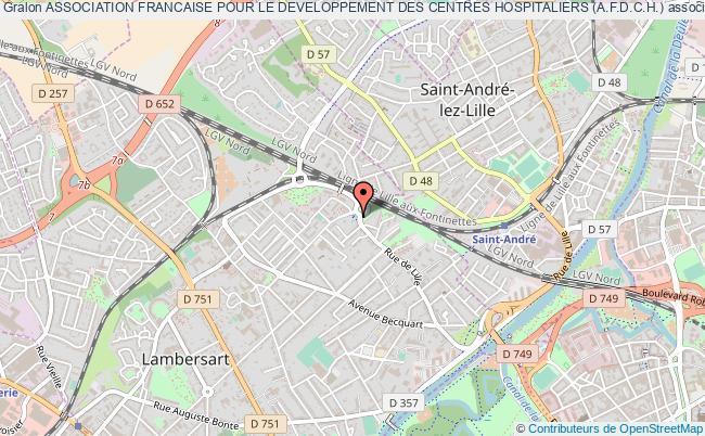 plan association Association Francaise Pour Le Developpement Des Centres Hospitaliers (a.f.d.c.h.) Lambersart