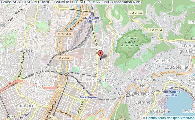 plan association Association France-canada Nice Alpes-maritimes