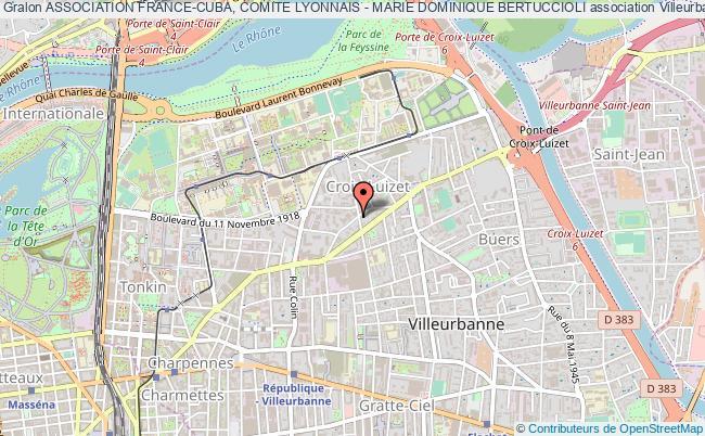 plan association Association France-cuba, Comite Lyonnais - Marie Dominique Bertuccioli