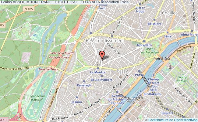 plan association Association France D'ici Et D'ailleurs Afia Paris