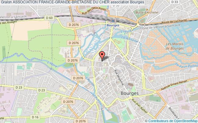 plan association Association France-grande-bretagne Du Cher Bourges
