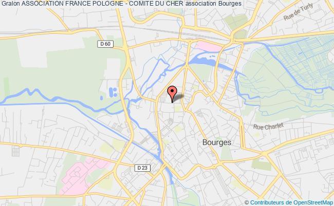 plan association Association France Pologne (amitie Franco Polonaise) - Comite Du Cher Bourges