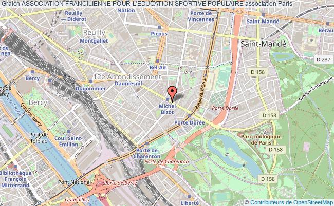 plan association Association Francilienne Pour L'education Sportive Populaire