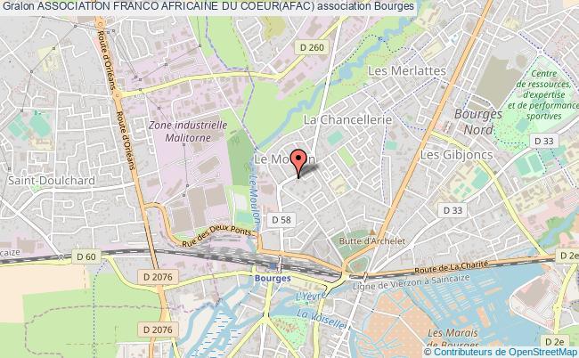 plan association Association Franco Africaine Du Coeur(afac) Bourges