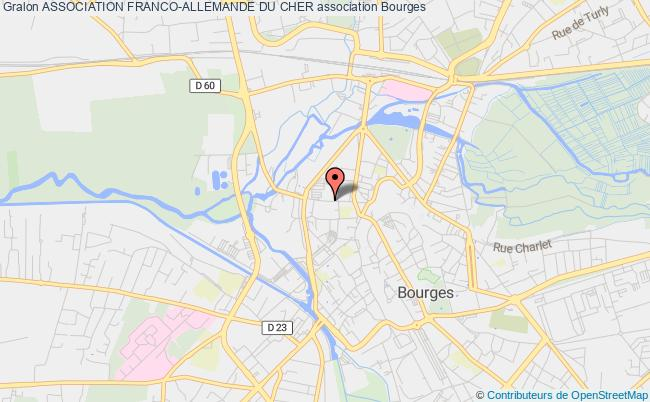 plan association Association Franco-allemande Du Cher Bourges