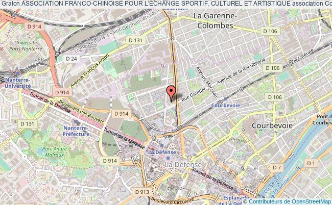 plan association Association Franco-chinoise Pour L'Échange Sportif, Culturel Et Artistique Courbevoie