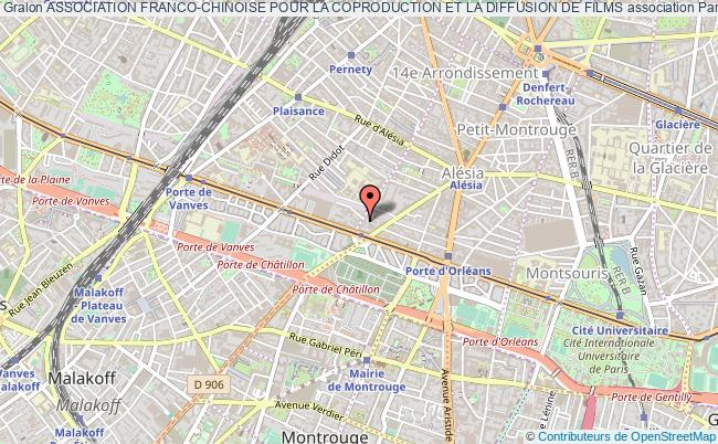 plan association Association Franco-chinoise Pour La Coproduction Et La Diffusion De Films Paris 14e