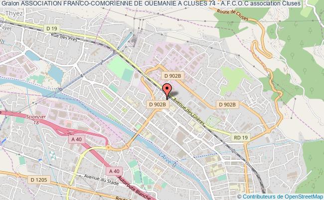 plan association Association Franco-comorienne De Ouemanie A Cluses 74 - A.f.c.o.c