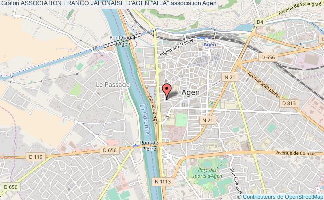 """plan association Association Franco Japonaise D'agen """"afja"""""""