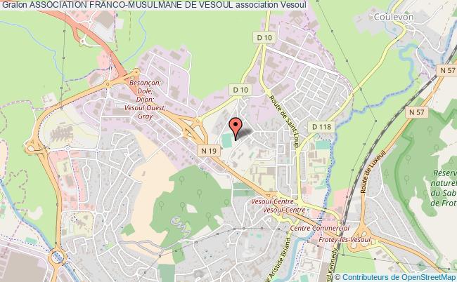 plan association Association Franco-musulmane De Vesoul Vesoul