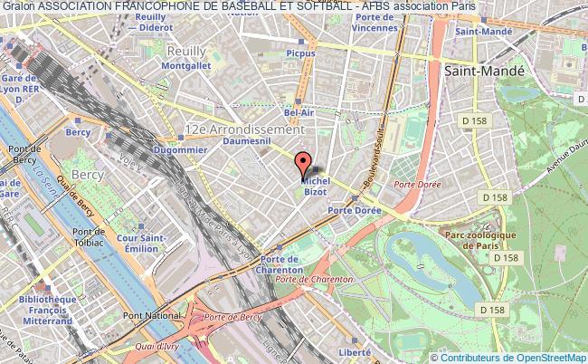 plan association Association Francophone De Baseball Et Softball - Afbs Paris