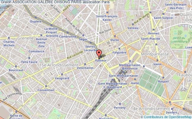 plan association Association Galerie Ohsong Paris Paris