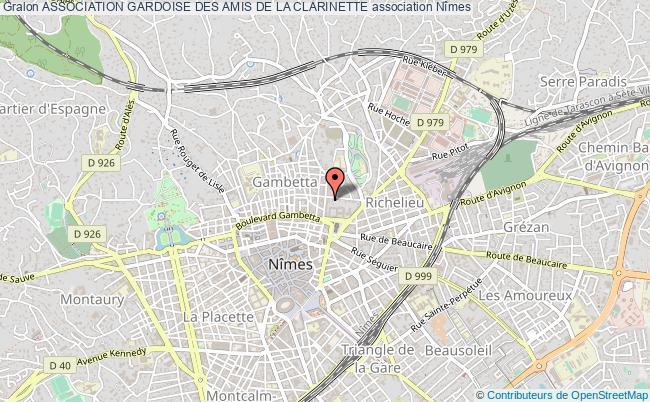 plan association Association Gardoise Des Amis De La Clarinette Nîmes