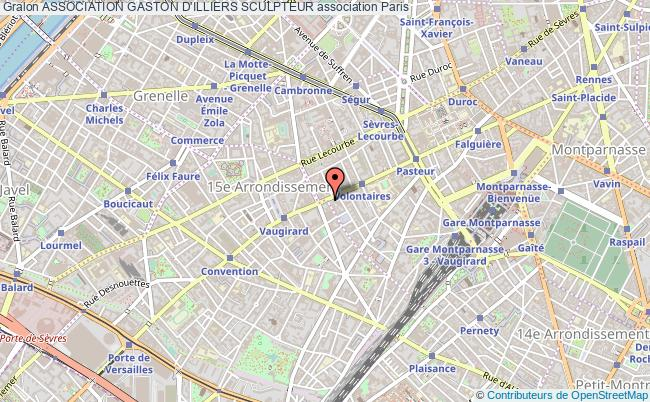 plan association Association Gaston D'illiers Sculpteur Paris