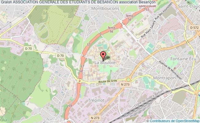 plan association Association Generale Des Etudiants De Besancon