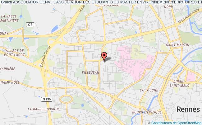 plan association Association Genvi, L'association Des Etudiants Du Master Environnement, Territoires Et Acteurs De L'universite Rennes 2