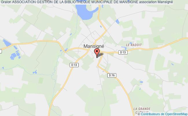 plan association Association Gestion De La Bibliotheque Municipale De Mansigne