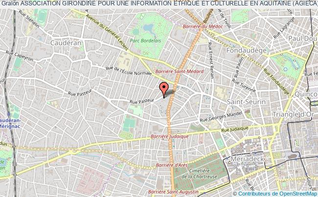 plan association Association Girondine Pour Une Information Ethique Et Culturelle En Aquitaine (agieca) Bordeaux