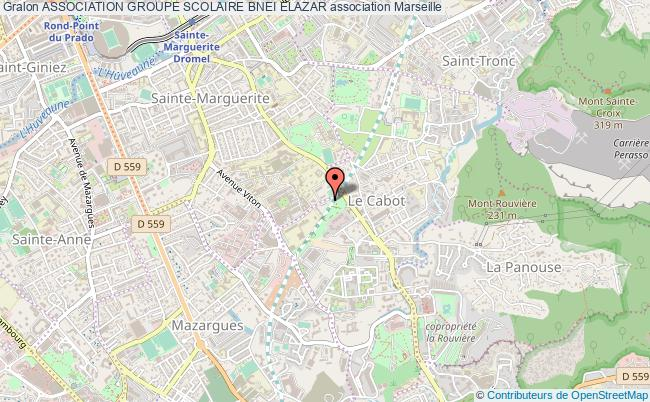 plan association Association Groupe Scolaire Bnei Elazar Marseille