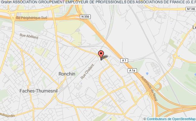 plan association Association Groupement Employeur De Professionels Des Associations De France (g.e.p.a.f.) Ronchin