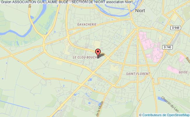 plan association Association Guillaume Bude - Section De Niort