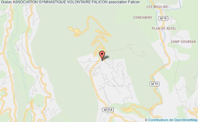 plan association Association Gymnastique Volontaire Falicon
