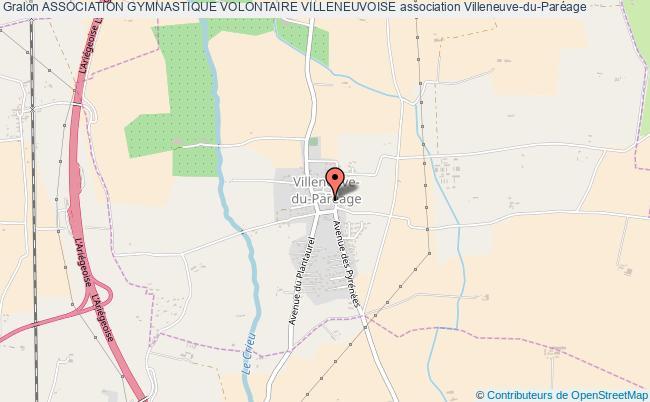 plan association Association Gymnastique Volontaire Villeneuvoise