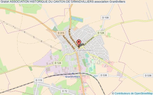 plan association Association Historique Du Canton De Grandvilliers