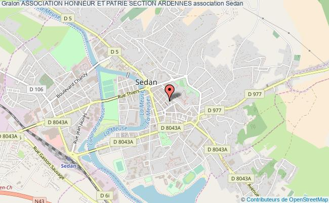 plan association Association Honneur Et Patrie Section Ardennes