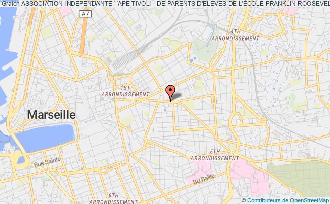 plan association Association Independante - Ape Tivoli - De Parents D'eleves De L'École Franklin Roosevelt Marseille