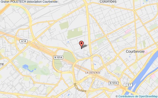 plan association Association Informatique, Photographie Et Multimedia Du PÔle Universitaire Leonard De Vinci (poletech) Courbevoie