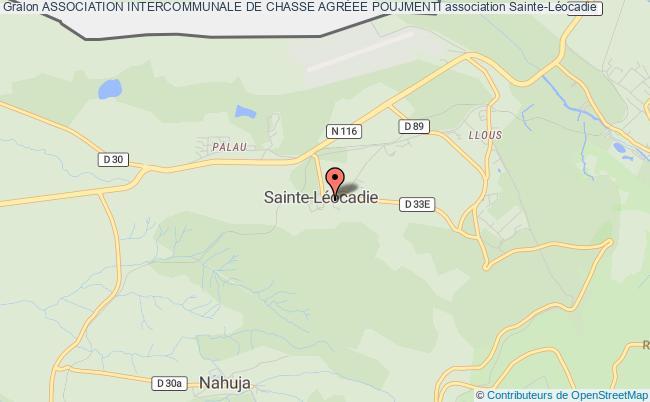 plan association Association Intercommunale De Chasse AgrÉe Poujmenti Sainte-Léocadie