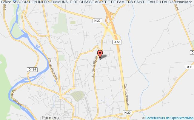 plan association Association Intercommunale De Chasse Agreee De Pamiers Saint Jean Du Falga
