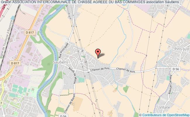 plan association Association Intercommunale De Chasse Agreee Du Bas Comminges