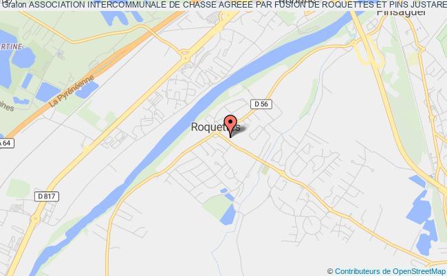 plan association Association Intercommunale De Chasse Agreee Par Fusion De Roquettes Et Pins Justaret