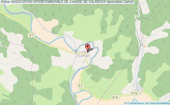 plan association Association Intercommunale De Chasse De Calaroux Camon