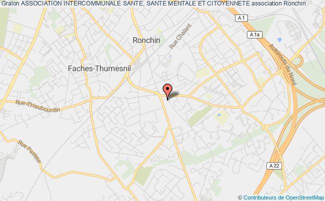 plan association Association Intercommunale Sante, Sante Mentale Et Citoyennete Ronchin