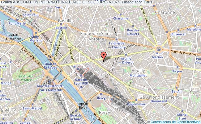 plan association Association Internationale Aide Et Secours (a.i.a.s.) Paris