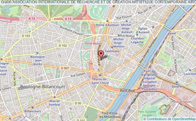 plan association Association Internationale De Recherche Et De Creation Artistique Contemporaine Aircac