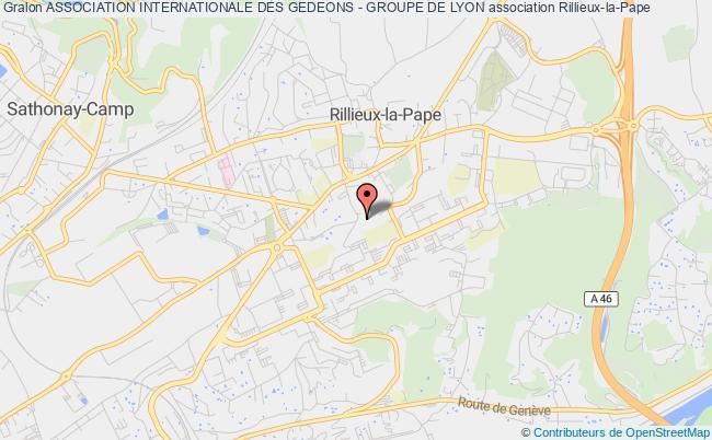 plan association Association Internationale Des Gedeons - Groupe De Lyon